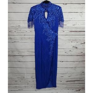 Vintage De Oscar Collection Beaded Dress Size 10